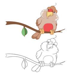 cute bullfinch cartoon character vector image