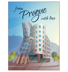 Dancing House Building Prague Poster vector