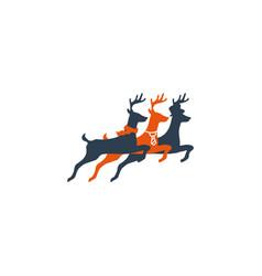 deer jump creative logo template icon element vector image