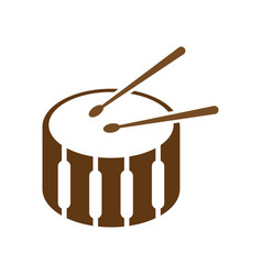 drum icon design template vector image