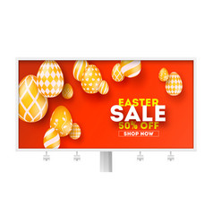 easter sale special holiday offer billboard with vector image