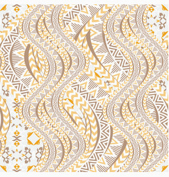 Ethnic waves seamless pattern vector