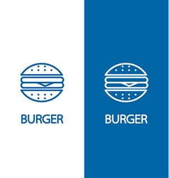 Fastfood sign for cafe or restaurant Burger or vector image