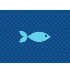 flat of fish against line vector image