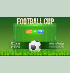 Football event poster design soccer stadium on vector
