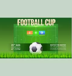 football event poster design soccer stadium on vector image