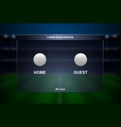 Football scoreboard broadcast vector