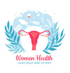 Gynecology and women health gynecological clinic vector