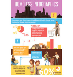 Homeless people infographics vector