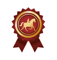 Horse riding equestrian sport vector