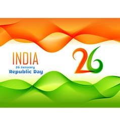 indian republic day design made in wave style vector image