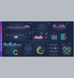 infographic web analysis element design vector image