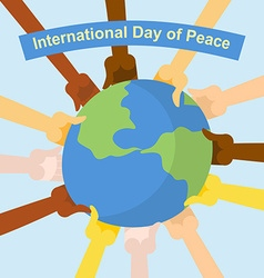 International day of peace Hands of different vector