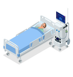Isometric ventilator medical machine designed to vector