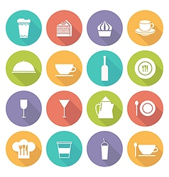 Kitchen icons on white vector