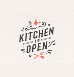 kitchen open wall decor poster sign quote vector image