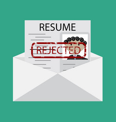 Letter with declined cv vector