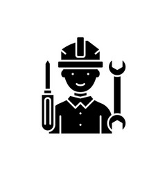 master black icon sign on isolated vector image