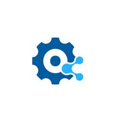mechanical share logo icon design vector image