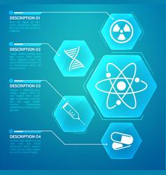 Medicine blue poster vector