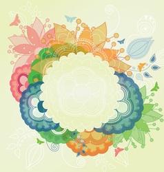 Modern Flower Frame vector image