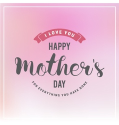 Mothers Day Badges and Labels Design For Greeting vector image