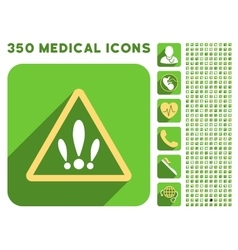 Multiple Problems Icon and Medical Longshadow Icon vector