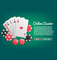 online casino realistic vector image