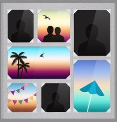 Page photo album vector