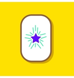 paper sticker on stylish background star shines vector image