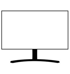 pc monitor icon tv eps 10 style vector image