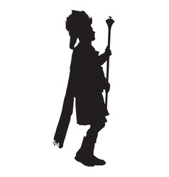 Pipe Band Leader Silhouette vector