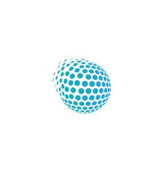 pixel globe logo icon design vector image