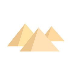 Pyramids on white background vector