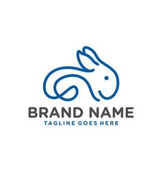 rabbit animal outline modern logo vector image