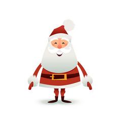 Santa claus flat happy vector