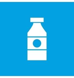 Sauce bottle icon white vector