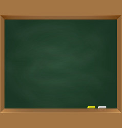 school chalk board with grunge texture vector image