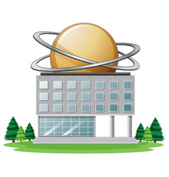 Science building on white background vector