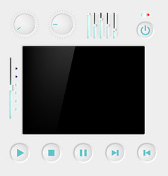 Screen with buttons vector