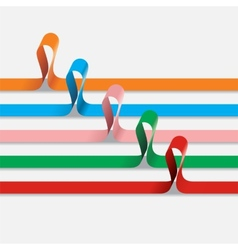 set different paper ribbons vector image