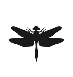 Silhouette of a Dragonfly vector