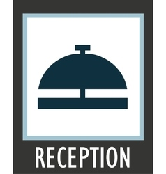 simple icon call the receptionist at hotel vector image