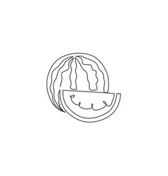 single one line drawing sliced and whole vector image