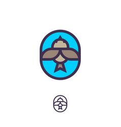 small bird logo flat icon vector image