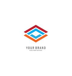 square logo vector image