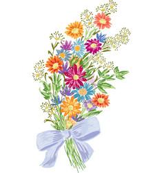 Summer bouquet vector