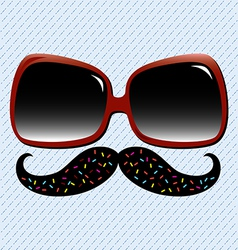 Summer Fun Mustache vector image