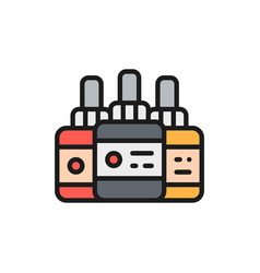 tattoo ink bottles accessory flat color vector image