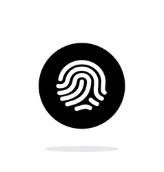 Thumbprint scanner icon on white background vector